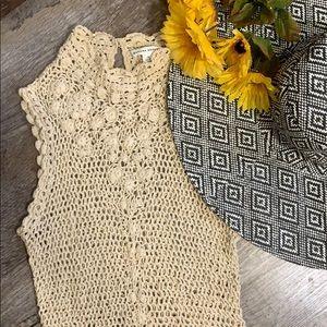 Banana Republic   Crochet Sleeveless Beach Top